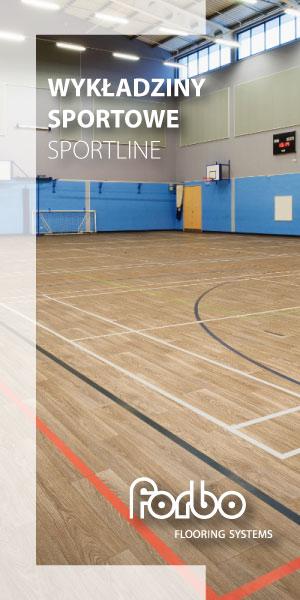 Sportline – specjalnie zaprojektowana heterogeniczna wykładzina PVC do wielofunkcyjnych hal sportowych