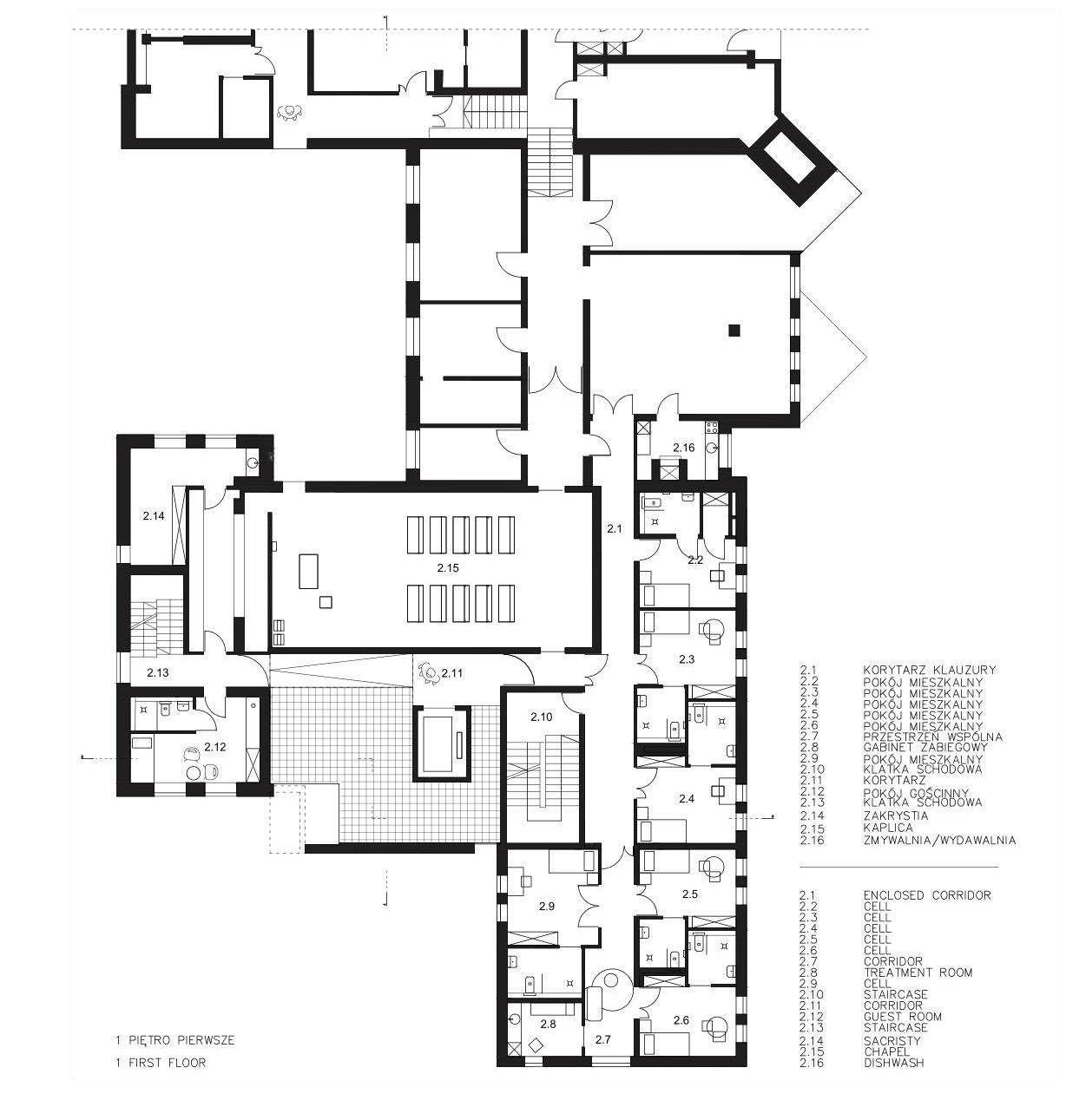 rzut 1. piętra