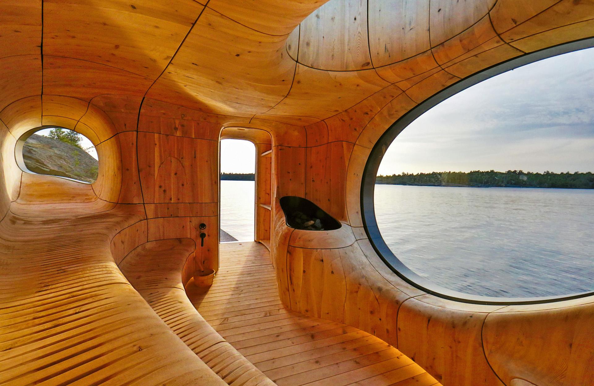 Prywatna sauna Grotto, proj.: Partisans