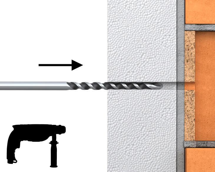 R-TFIX-8M – uniwersalny kołek fasadowy wbijany