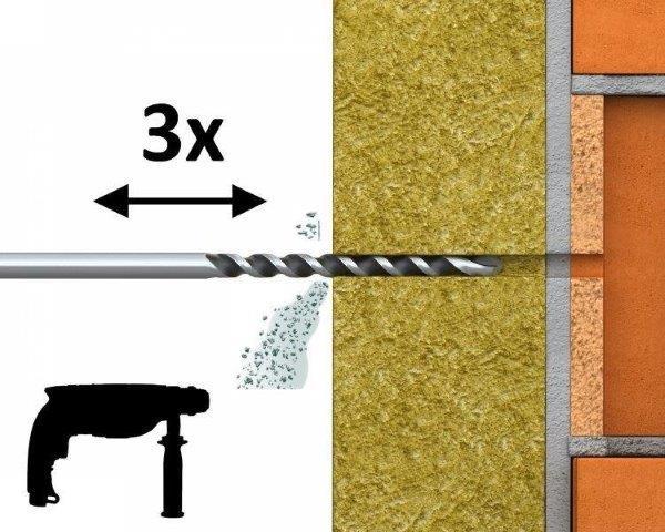 R-TFIX-8SX – uniwersalny kołek fasadowy wkręcany zwkrętem cynkowanym