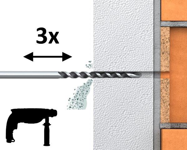 R-TFIX-8S – uniwersalny kołek fasadowy wkręcany