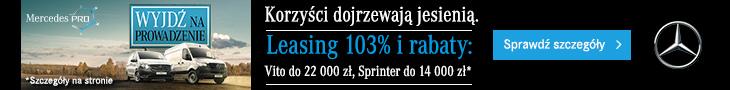 Mercedes. Leasing 103% i rabaty na Vito i Sprinter